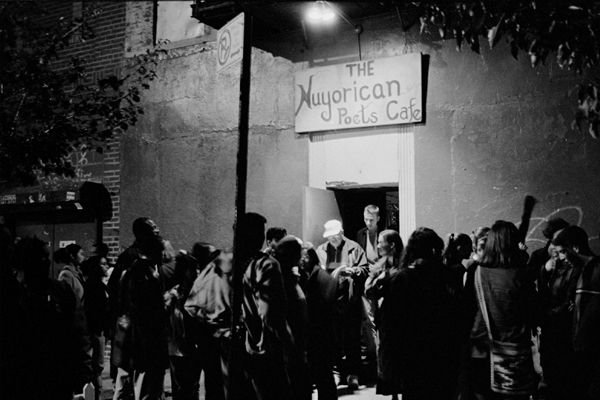 Outside the Nuyorican for a Friday Night Slam